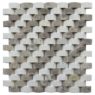 Torino 0.8 x 1.6 Marble Mosaic Tile in Beige
