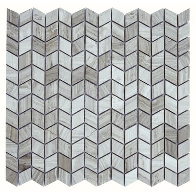 Messina Marble Mosaic Tile in Gray