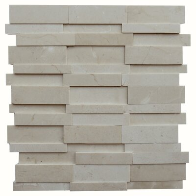 Perugia Marble Mosaic Tile in Beige