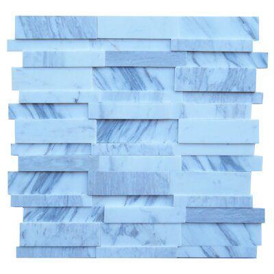 Perugia Marble Mosaic Tile in Blue