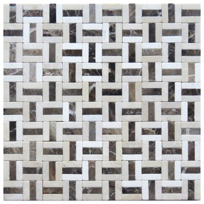 Firenze 0.6 x 2 Marble Mosaic Tile in Beige/Brown