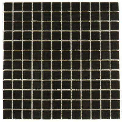 Mileto 0.8 x 0.8 Ceramic Mosaic Tile in Black