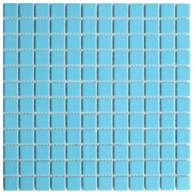 Mileto 0.8 x 0.8 Ceramic Mosaic Tile in Light Blue