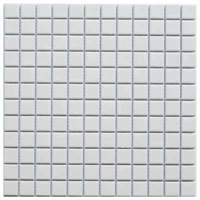Mileto 0.8 x 0.8 Ceramic Mosaic Tile in White
