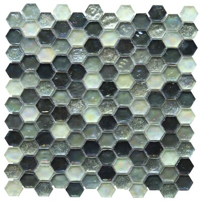 Leonessa 1 x 1 Glass Mosaic Tile in Black