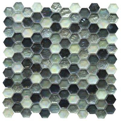 Leonessa 1 x 1 Glass Mosaic Tile in Black