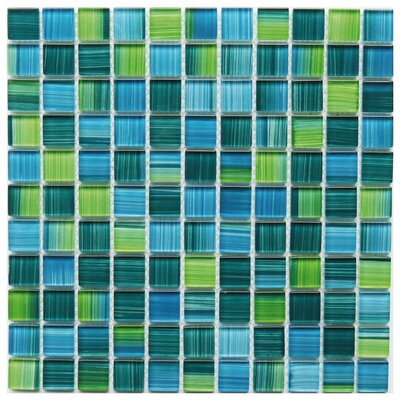 Alezio 1 x 1 Glass Mosaic Tile in Green