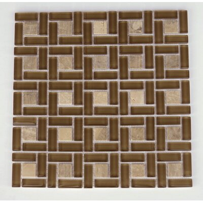 Casinina  Natural Stone/Glass Mosaic Tile in Brown
