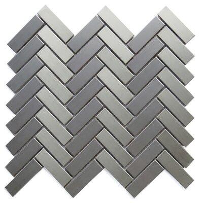 Padova Metal Mosaic Tile in Silver