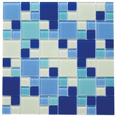 Gaiola 2 x 2 Glass Mosaic Tile in Blue