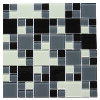 Gaiola 2 x 2 Glass Mosaic Tile in Black