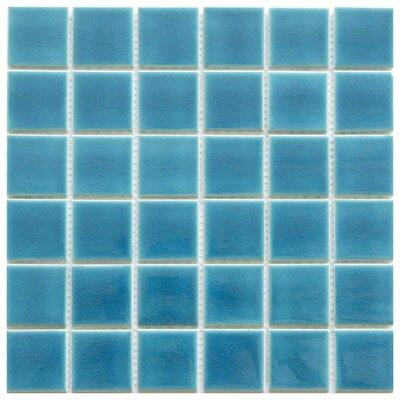 Pavia 2 x 2 Ceramic Mosaic Tile in Blue