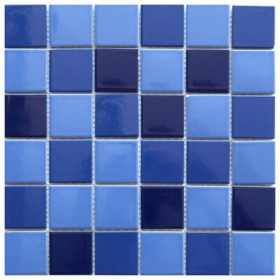 Positano 2 x 2 Ceramic Mosaic Tile in Purple