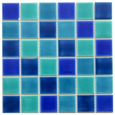 Positano 2 x 2 Ceramic Mosaic Tile in Blue