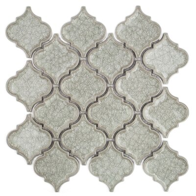 Arabesque 3 x 3.2 Porcelain Mosaic Tile in Gray