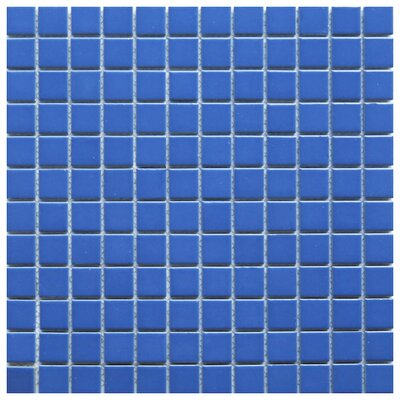 Mileto 0.8 x 0.8 Ceramic Mosaic Tile in Blue