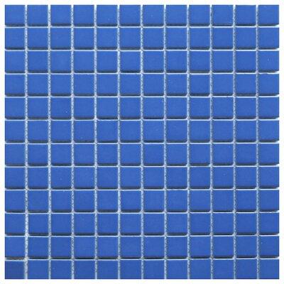Mileto 0.8 x 0.8 Ceramic Mosaic Tile in Blue