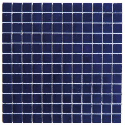 Mileto 0.8 x 0.8 Ceramic Mosaic Tile in Dark Blue