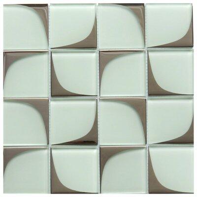 Milano 3 x 3 Glass Mosaic Tile in White