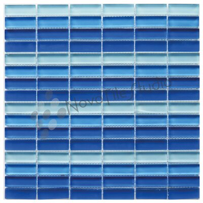 Verona 0.6 x 2 Glass Mosaic Tile in Blue