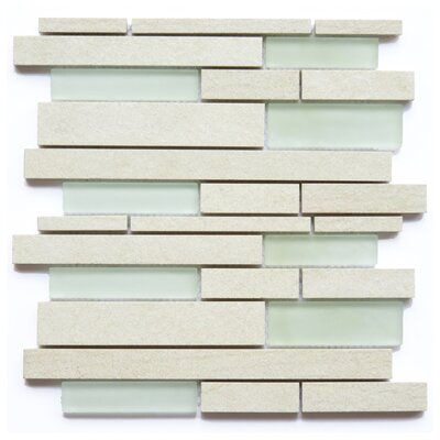Parma Ceramic/Glass Mosaic Tile in White