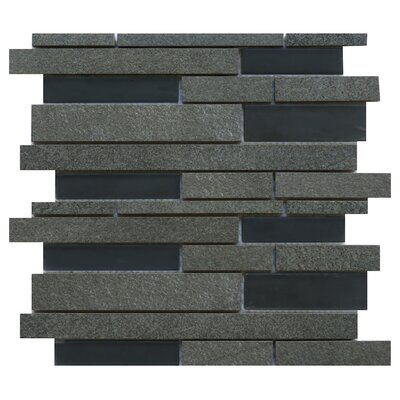 Parma Ceramic/Glass Mosaic Tile in Black
