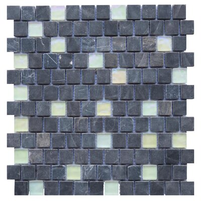 Barletta 1 x 1 Mosaic Tile in Black