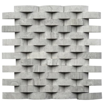 Macerata Marble Mosaic Tile in Gray