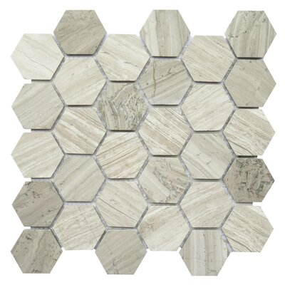Bari 2 x 2 Marble Mosaic Tile in Mocca