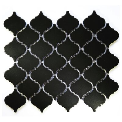 Arabesque 2 x 2 Ceramic Mosaic Tile in Black
