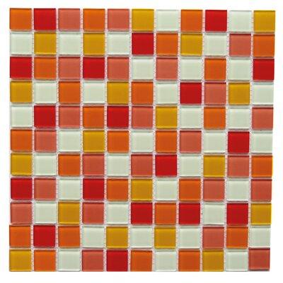 Pizzoli 1 x 1 Glass Mosaic Tile in Orange