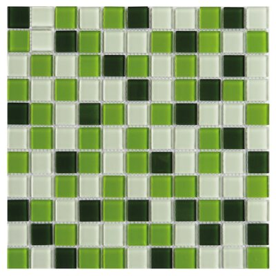 Pizzoli 1 x 1 Glass Mosaic Tile in Green