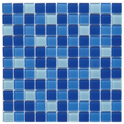 Pizzoli 1 x 1 Glass Mosaic Tile in Blue