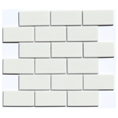 Subway 2 x 4 Ceramic Mosaic Tile in White