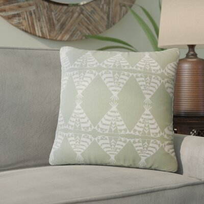 Vail Geometric Down Filled 100% Cotton Throw Pillow Size: 18 x 18, Color: Sundown/Green