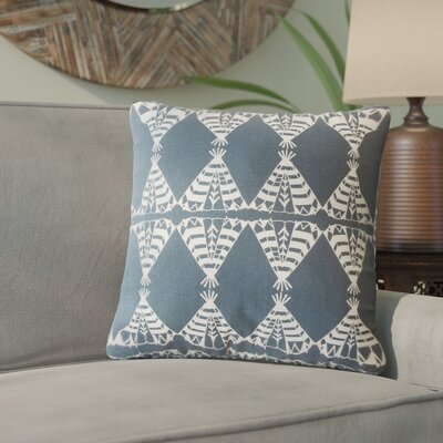 Vail Geometric Down Filled 100% Cotton Throw Pillow Size: 18 x 18, Color: Blue