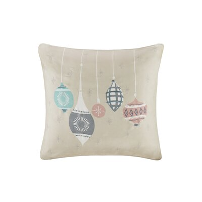 Ornament Treasures Digital Embroidered Square Throw Pillow