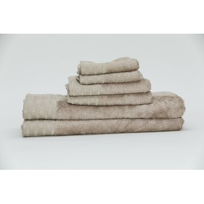 Fetzer Classic Rayon from Bamboo 6 Piece Towel Set Color: Linen