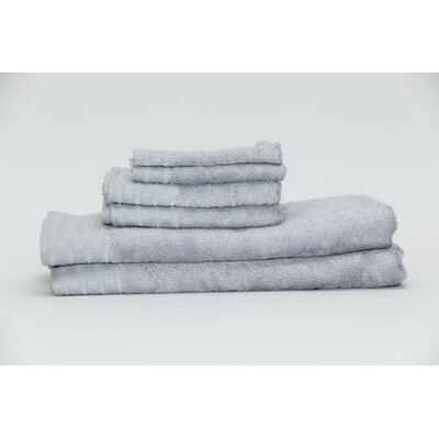 Fetzer Classic Rayon from Bamboo 6 Piece Towel Set Color: Silver