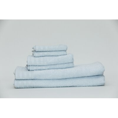 Fetzer Classic Rayon from Bamboo 6 Piece Towel Set Color: Water