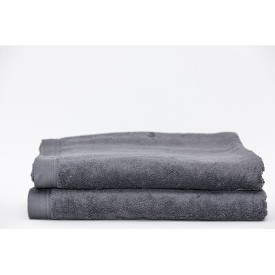 Fetter Classic Cotton Bath Sheet Color: Dark Anthracite