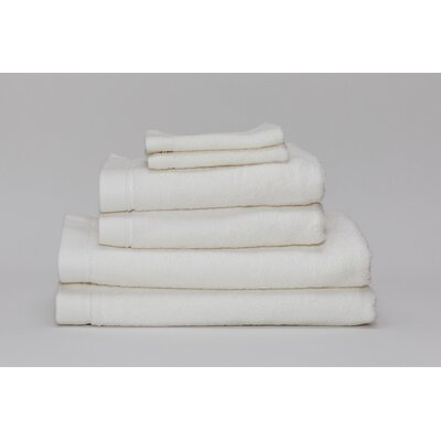 Festa Classic Cotton 6 Piece Towel Set Color: Ivory