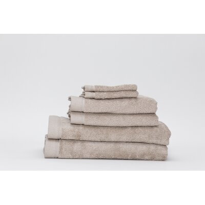 Festa Classic Cotton 6 Piece Towel Set Color: Linen