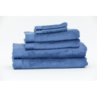 Festa Classic Cotton 6 Piece Towel Set Color: Ceramic Blue