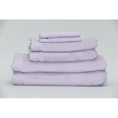 Festa Classic Cotton 6 Piece Towel Set Color: Lavender