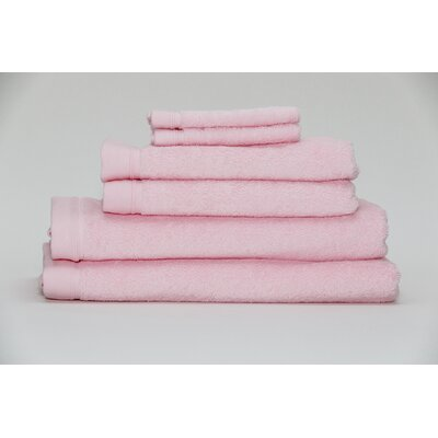 Festa Classic Cotton 6 Piece Towel Set Color: Pink