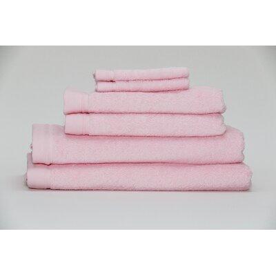 Festa Classic Cotton 6 Piece Towel Set Color: Pink