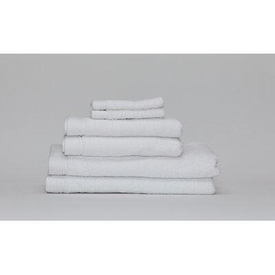 Festa Classic Cotton 6 Piece Towel Set Color: White