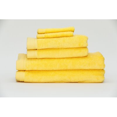 Festa Classic Cotton 6 Piece Towel Set Color: Sunshine