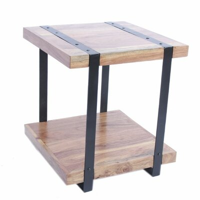 Bellanger Contemporary Iron and Wood End Table